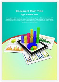 Tablet Spreadsheet Graph Editable Word Template