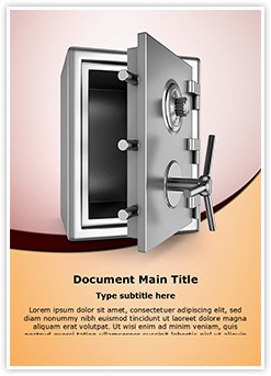 Security metal safe Editable Word Template
