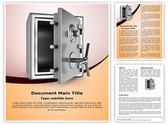 Security metal safe Template