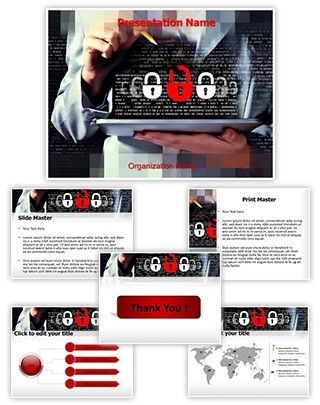 Cryptography Tab Editable PowerPoint Template