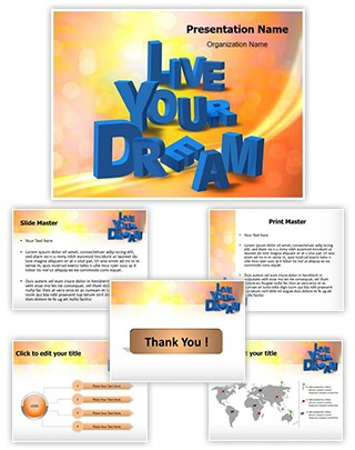 Live Your Dream Editable PowerPoint Template