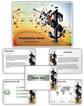 Financial Crisis Editable PowerPoint Template
