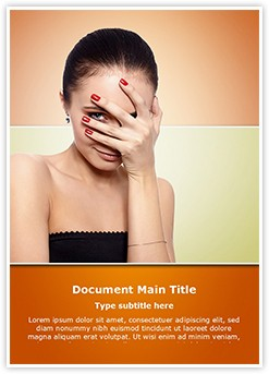 Shy Woman Editable Word Template