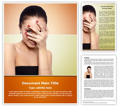 Shy Woman Editable Word Document Template