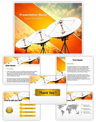 Satellite antennas Editable PowerPoint Template