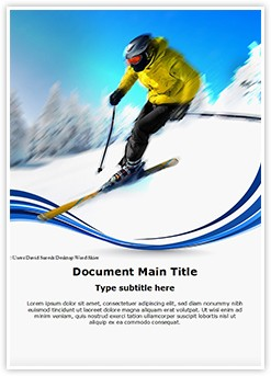 Skier Editable Word Template