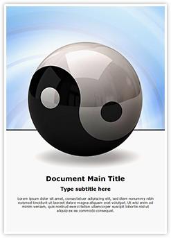 Ying yang symbol Editable Word Template