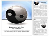 Ying yang symbol Editable Word Template