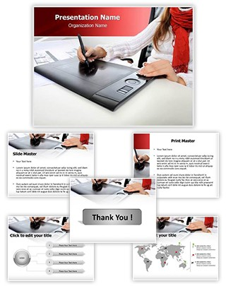 Graphic tablet Editable PowerPoint Template
