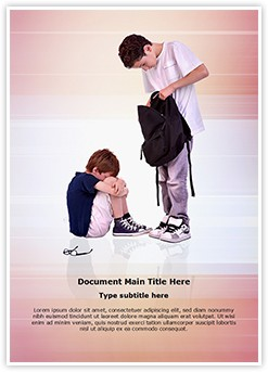 Teen teen Bullying Editable Word Template