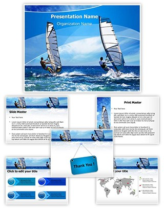 Windsurfing Editable PowerPoint Template
