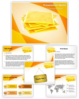 American Slice Cheese Editable PowerPoint Template