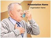 Asthma Inhaler Treatment Editable PowerPoint Template