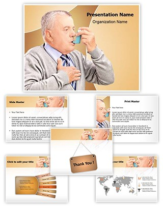 Asthma Inhaler Treatment Editable PowerPoint Template