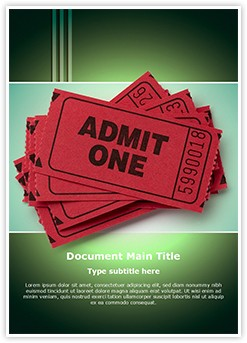 Theatre Ticket Editable Word Template