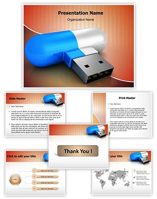 Flash Drive Editable PowerPoint Template