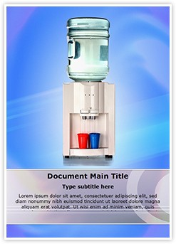 Water Cooler Editable Word Template