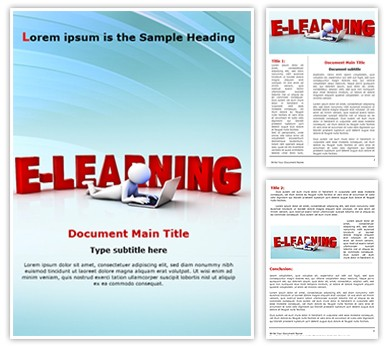 E-Learning Editable Word Document Template