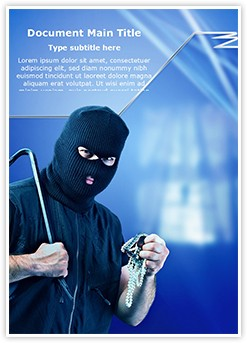 Thief Burglar Stealing Editable Word Template