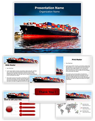 Cargo Ship Editable PowerPoint Template