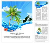 Beach Palms Editable Word Template