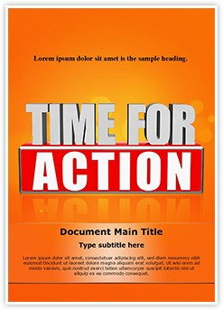Time For Action Editable Word Template