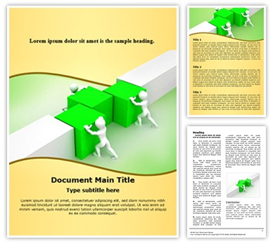 Working in Team Editable Word Document Template