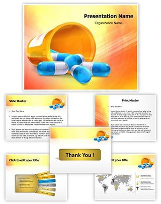3D pills Editable PowerPoint Template