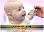 Baby Taking Medicine PowerPoint Templates