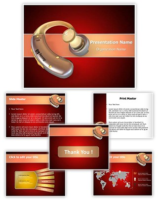 Hearing Aid Editable PowerPoint Template