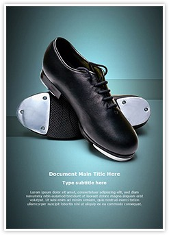 Tap Shoes Editable Word Template
