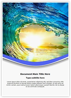 Tides Editable Word Template
