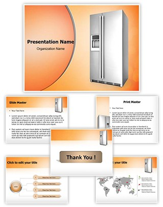 Refrigerator Editable PowerPoint Template