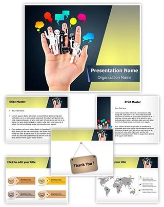 Social Media Concept Editable PowerPoint Template