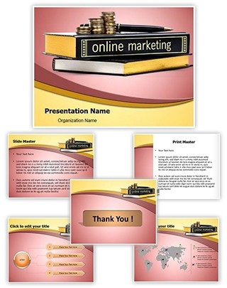 Online Marketing Knowledge Editable PowerPoint Template