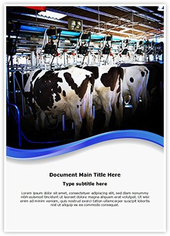 Cow Milking Factory Editable Word Template