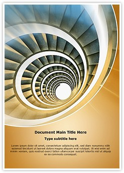 Endless Spiral staircase Editable Word Template