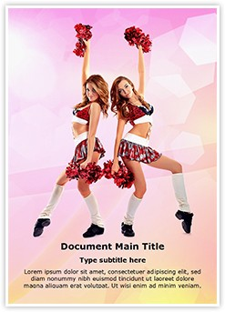 Cheerleader Editable Word Template