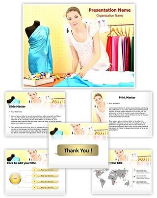 Fashion Designer Editable PowerPoint Template