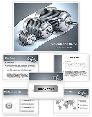 Electric motors Editable PowerPoint Template