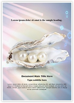 White Pearls Editable Word Template