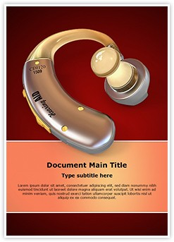 Hearing Aid Editable Word Template
