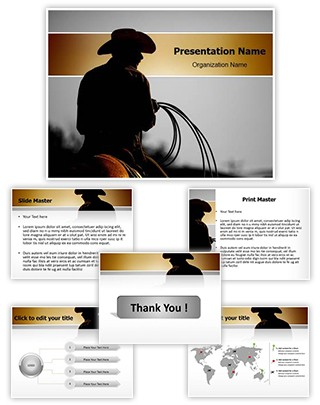 Cowboy Editable PowerPoint Template