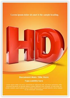 High Definition HD Editable Word Template