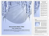 Icicles Hanging Editable Word Template
