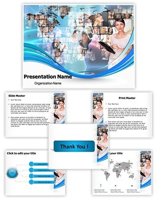 Global Communication Editable PowerPoint Template