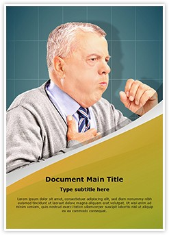 Coughing Pulmonary Disease Editable Word Template