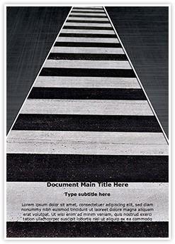Crosswalk Editable Word Template