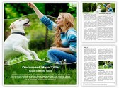 Dog Human Friendship Editable Word Template