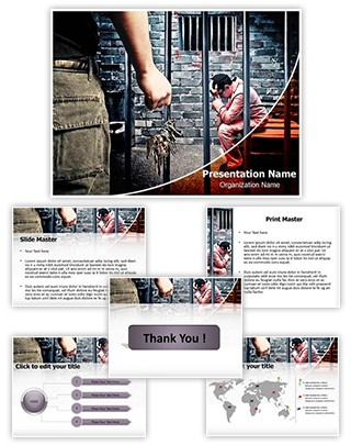 Prison Cell Editable PowerPoint Template